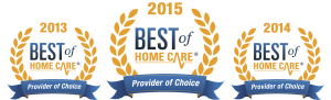 Best of Home Care Provider of Choice - 2013 to 2015