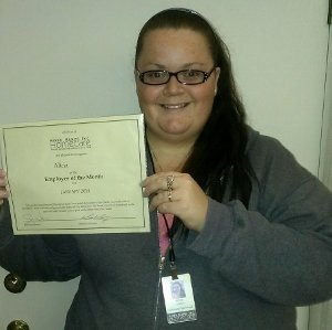 North Bay Home Care employee of the month!