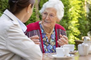 senior care discussion on home care