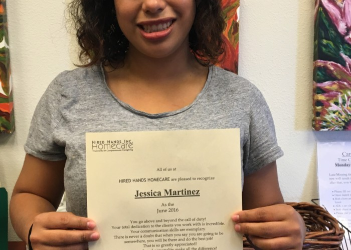 Jessica is Napa's Caregiver of the Month