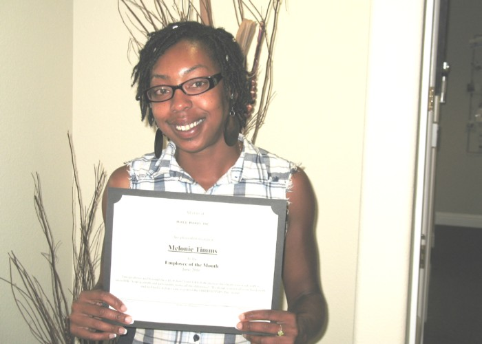 Employee of the Month for Pleasanton!!