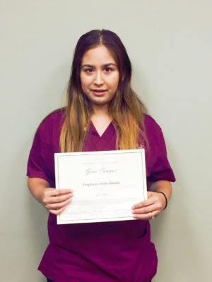GINA is Santa Rosa's Employee of the Month
