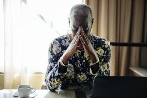 family caregiver feeling stressed